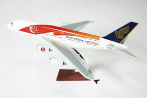 SIngapore Airlines Special Edition 50th Aniversary Livery A380 47cm Solid Resin
