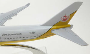 Royal Brunei Diecast Metal Plane Aircraft Models On Stand 14Cm