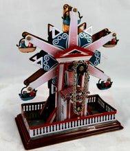 Load image into Gallery viewer, TIN TOY WIND-UP CLOCKWORK STAR FERRIS WHEEL CHRISTMAS GIFT CLASSIC COLLECTIBLE
