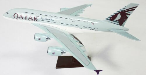 Qatar A380 Large Plane Model Boeing Airplane Apx 47Cm Solid Resin