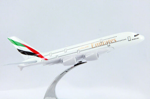 Emirates Diecast Metal Plane Aircraft Models On Stand 14Cm Aerocraft