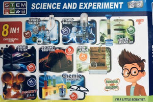 Volcano Eruption & 7 Other Experiments Science and Experiment Kit 8in1