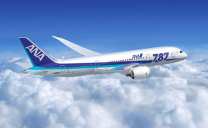Ana B787 Large Plane Model Boeing Airplane Apx 45Cm Solid Resin