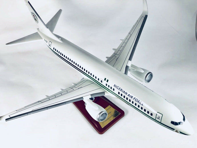 Nigerian Eagle 1 Airforce Presidential Jet 737 Large Plane Model With Plaque nigerian-eagle-1-airforce-presidential-jet-737-large-plane-model-with-plaque