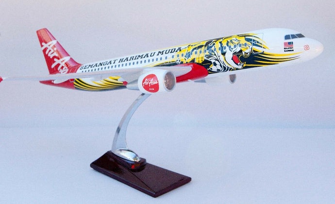 Air Asia Semangat A320 Tiger Large Plane Model  1:150 Airplane Apx 45Cm Solid air-asia-semangat-a320-tiger-large-plane-model-1-150-airplane-apx-45cm-solid