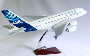 Airbus  A380 With Led Cabin Lights & Wheels  Stand Apx 45Cm Resin Rechargeable airbus-a380-large-plane-model-boeing-airplane-with-led-cabin-lights-wheels