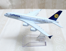 Load image into Gallery viewer, Airbus A380 - Lufthansa Metal Air Plane Airliner DieCast 1/400 #5070 airbus-a380-lufthansa-metal-air-plane-airliner-diecast-1-400-5070