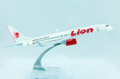 Lion Airlines Indonesia Airline  Diecast Plane Model 737 1:400 16Cm+Stand #76 lion-airlines-indonesia-airline-diecast-plane-model-737-1-400-16cm-stand-76