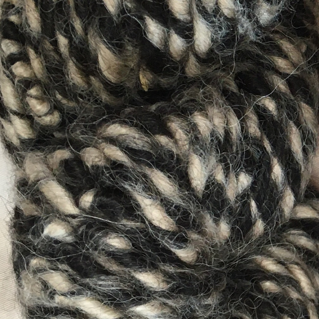 Black and White Super Bulky Art Yarn