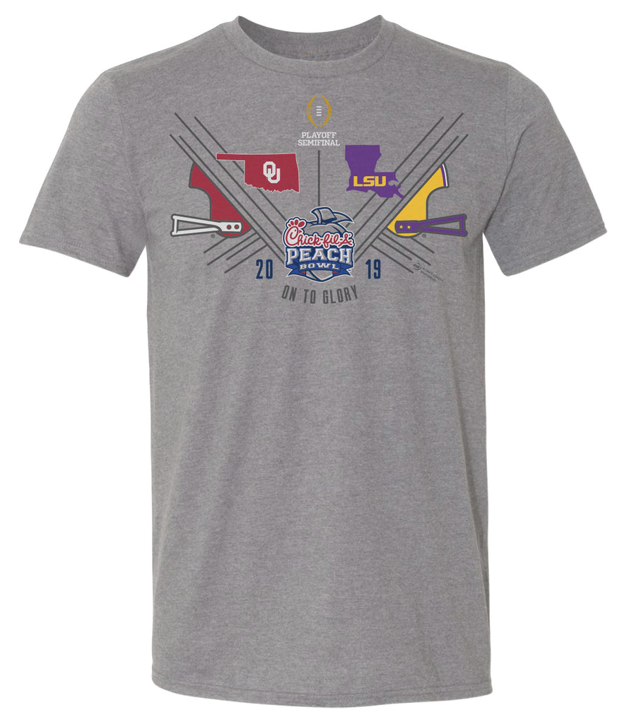2019 Chick-fil-A Peach Bowl 2 Team Med. Grey SST