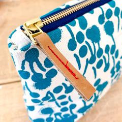 Tangerine Zip Clutch