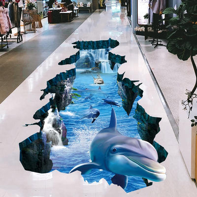 3D Swimming Dolphins