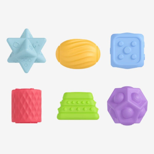 Textured balls and shapes toys, 6pcs/pack - Shivramas