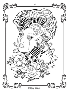 Digital Download - Coloring Book Project 1 (18 Page Collection) - TattooAwards.com