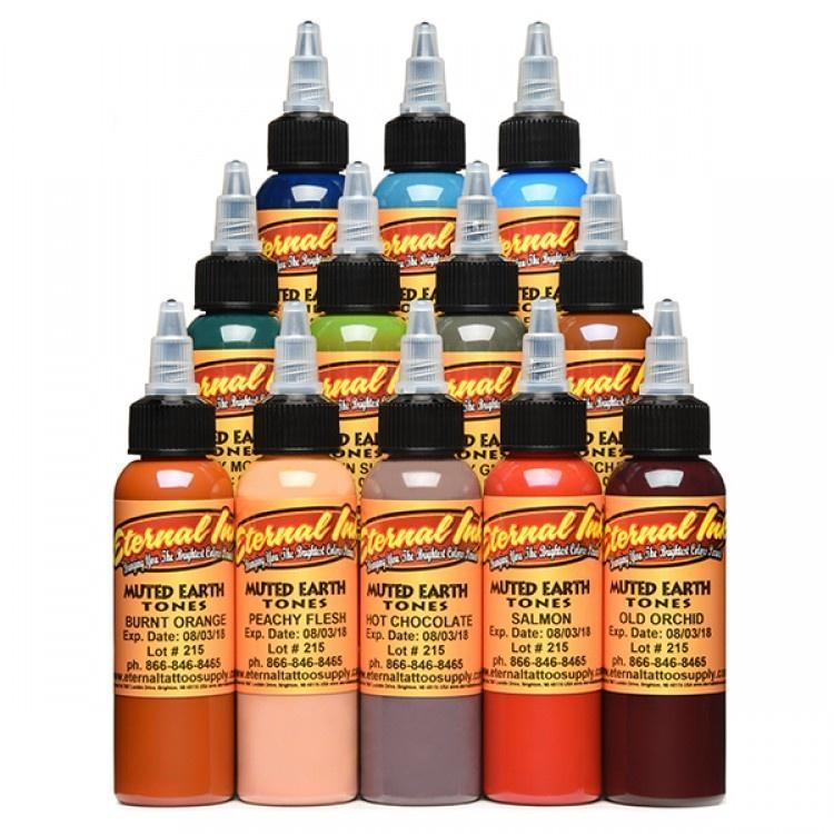 Eternal Ink - Muted Earth Tones 1 oz Set - TattooAwards.com