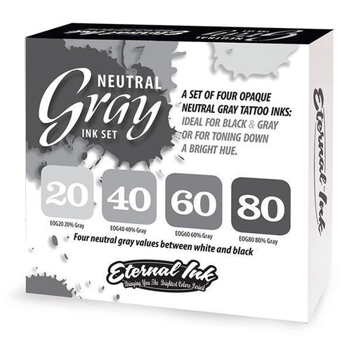 Eternal Ink - Neutral Gray Set - TattooAwards.com