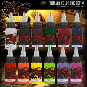 World Famous Primary Color Set #1 - TattooAwards.com