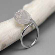 Load image into Gallery viewer, Original natural silver white crystal flowers ring - Acecare Jewellery Store