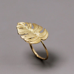 Fashion Elegant Fine Jewelry Adjustable Leaf Ring - Acecare Jewellery Store