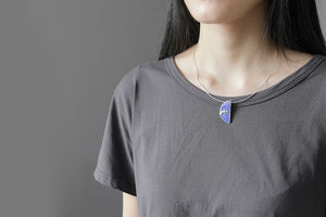 Silver Lady Lapis Pendant without the chain