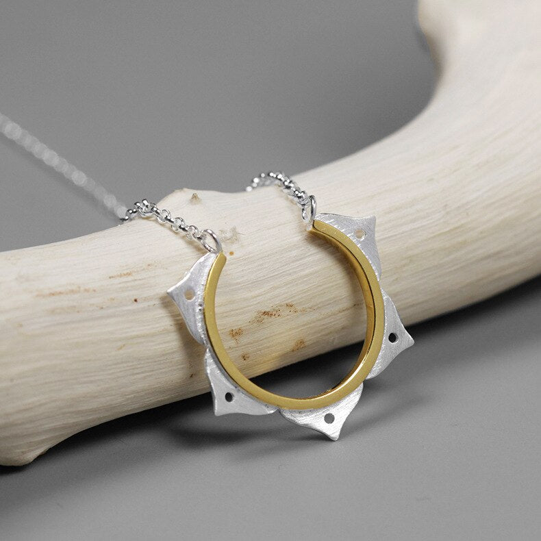 Japanese fashion Silver necklace pendant with chain - Acecare Jewellery Store