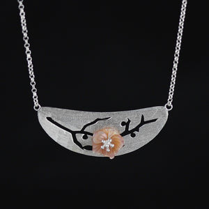 Floral inlaid shells and shells series necklace for women - Acecare Jewellery Store