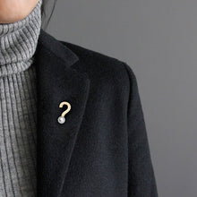Load image into Gallery viewer, Original exclamation mark concise city wind coat Brooch female autumn and Winter Scarf accessories - Acecare Jewellery Store