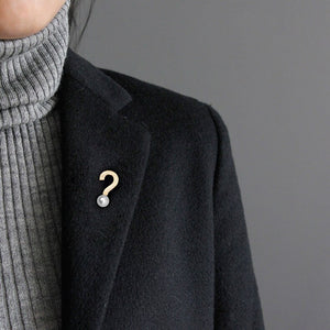 Original exclamation mark concise city wind coat Brooch female autumn and Winter Scarf accessories - Acecare Jewellery Store