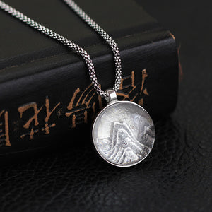 Silver 925 jewelry necklace Original Natural White Crystal Mountain Relief 925 Silver Female Pendant (Wholesale) - Acecare Jewellery Store