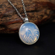 Load image into Gallery viewer, Silver 925 jewelry necklace Original Natural White Crystal Mountain Relief 925 Silver Female Pendant (Wholesale) - Acecare Jewellery Store