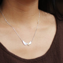Load image into Gallery viewer, Long silver necklace jewelry with stylish butterfly pendant for women - Acecare Jewellery Store