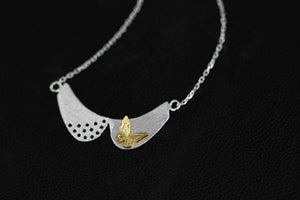 Long silver necklace jewelry with stylish butterfly pendant for women - Acecare Jewellery Store