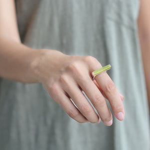 Silver Rings Natural Peridot Handmade Fine Jewelry Adjustable Rings For Women - Acecare Jewellery Store