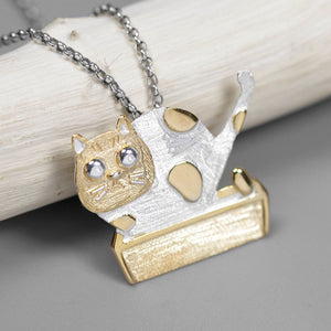 Laba's Cat Girl Pure Silver pendant without chain - Acecare Jewellery Store