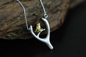 Silver bird pendant necklace with chain jewelry for women - Acecare Jewellery Store
