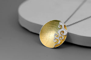 Women necklace concise fire moire pendant without chain - Acecare Jewellery Store