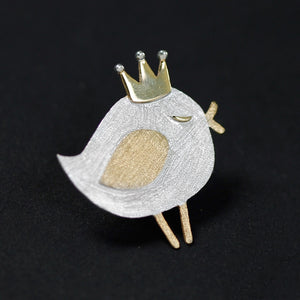 Silver Lovely Princess Bird Series Broochfor Women - Acecare Jewellery Store