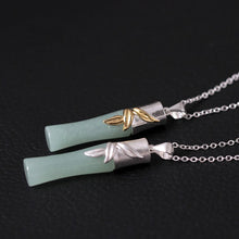 Load image into Gallery viewer, Creative hand-made diy inlaid jade bamboo personality pendant for women - Acecare Jewellery Store