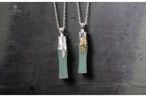 Creative hand-made diy inlaid jade bamboo personality pendant for women - Acecare Jewellery Store