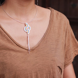 Sterling Pure Silver necklace jewelry Pendant (Mixed color)  Wholesale - Acecare Jewellery Store