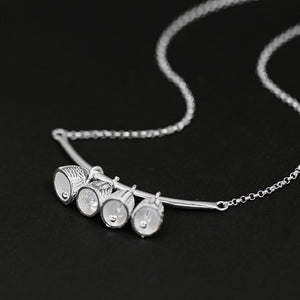 Girl Necklace Silver Jewelry Pendant Necklace - Acecare Jewellery Store