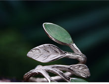 Load image into Gallery viewer, Silver  Stone Creative Handmade  leaf Design - Acecare Jewellery Store