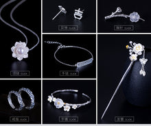 Load image into Gallery viewer, Silver retro national wind tree branch crystal flower plum breed female personality diy art flower flower dull - Acecare Jewellery Store