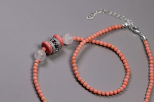 Hand-bearing bead coral necklace - Acecare Jewellery Store
