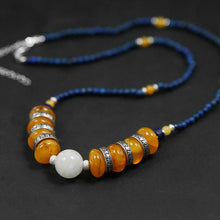 Load image into Gallery viewer, Handmade beaded amber necklace for women - Acecare Jewellery Store