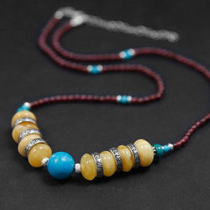 Handmade beaded amber necklace for women - Acecare Jewellery Store