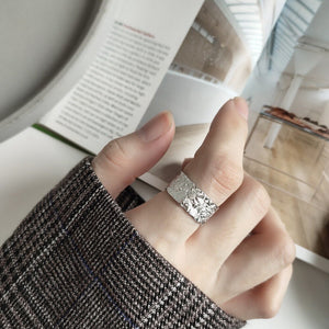 Simple Generous Silver Ring Gemstones Ring for Women - Acecare Jewellery Store