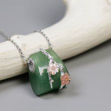 Load image into Gallery viewer, Dongling Jade Agate Pendant female pink shell flower without chains