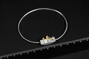 Artistic Simple Flower Groove Plants Bracelet for Women (Wholesale) - Acecare Jewellery Store