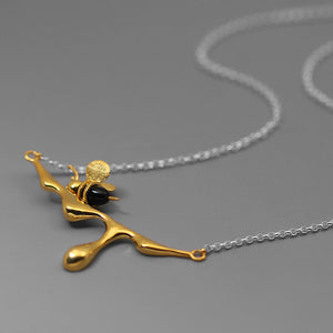Golf Color Honey Bee Pendant Necklace - Acecare Jewellery Store